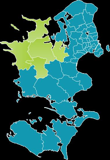 Kort over LAG Midt-Nordvestsjællands udstrækning