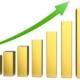 Grafik, der viser en stigning