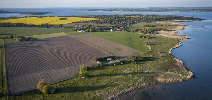 Luftfoto Bognæsvej på Tuse Næs